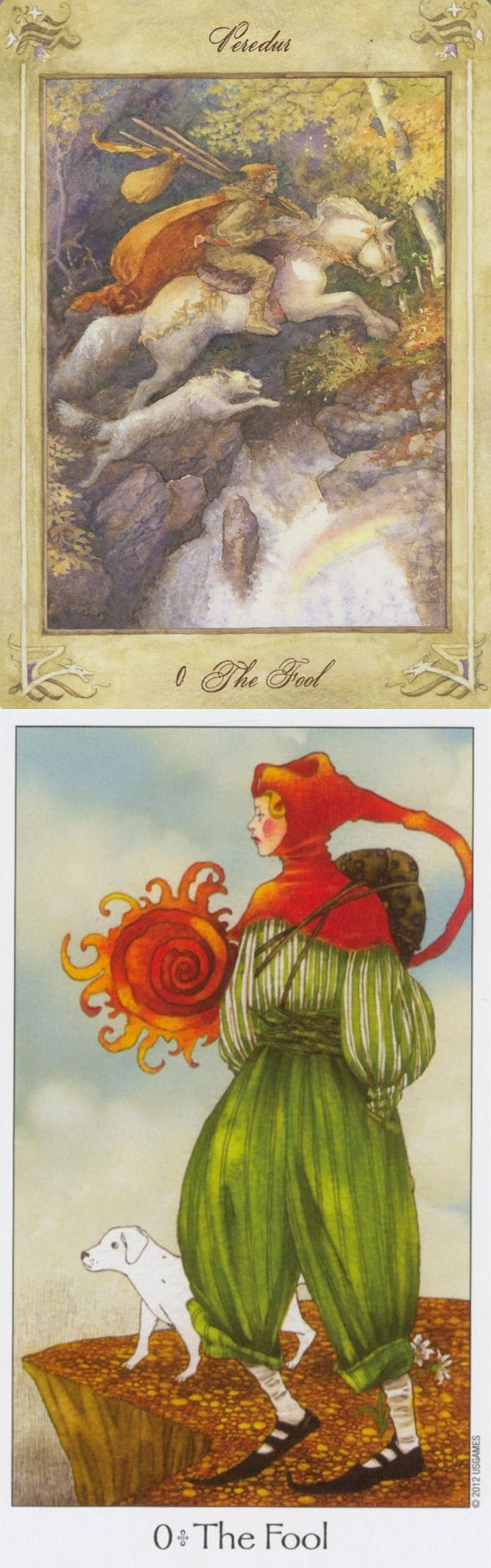 THE FOOL: beginning and negligence (reverse). Llewellyn Tarot deck and Dreaming Way Tarot deck: real tarot card reading, tarot to go vs the tarot cards. The best spells and tarot decks for sale. #tarotcards
