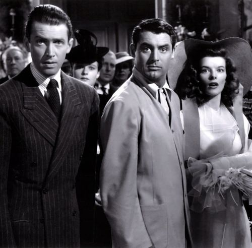 """The Philadelphia Story"" - Jimmy Stewart, Cary Grant, Katharine Hepburn. One of the greatest movies ever!"
