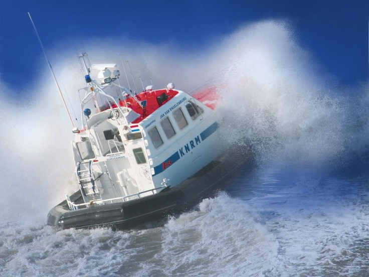 Great action shot of one of the KNRM vessels.