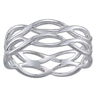 Sterling Silver Open Weave Ring