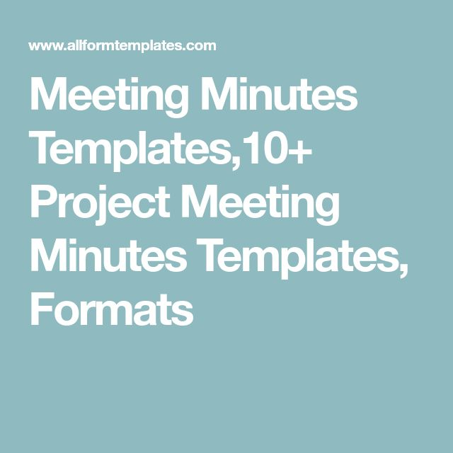 Meeting Minutes Templates,10+ Project Meeting Minutes Templates, Formats