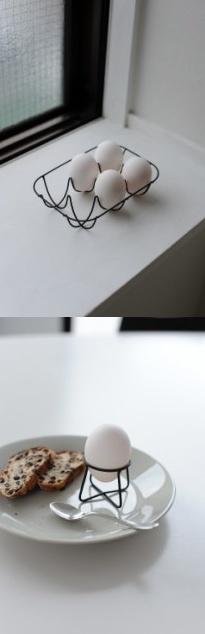 Wire egg holder - Naoto Fukasawa