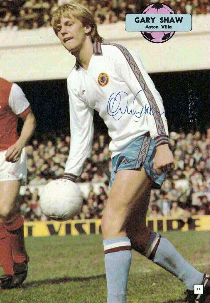 Gary Shaw of Aston Villa in 1979.
