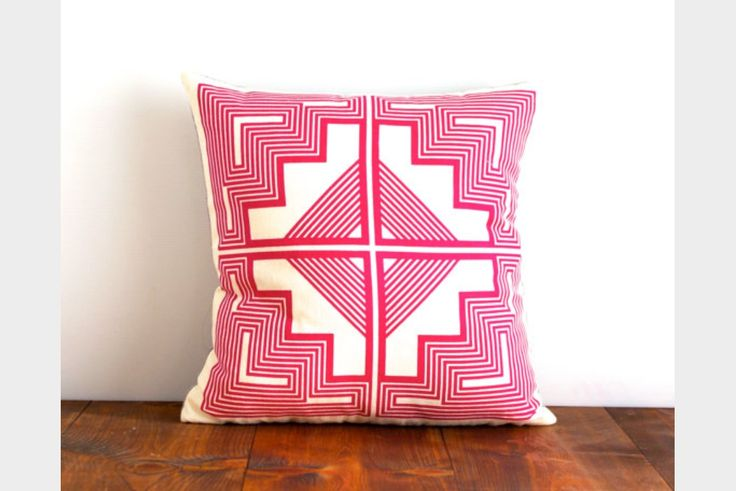 native quilt pillow cover