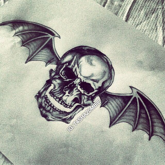 Original Deathbat Drawing (Instagram: @t4shaz0mbie) - Avenged Sevenfold