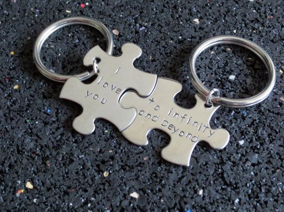 His and Hers Personalized Puzzle Piece by DreamWillowStudio