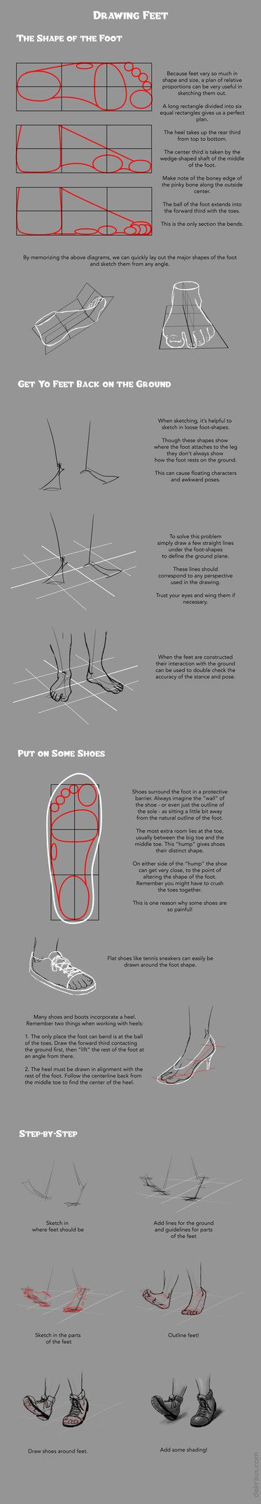 Drawing Feet (and Shoes!) Tutorial by banjodi on DeviantArt