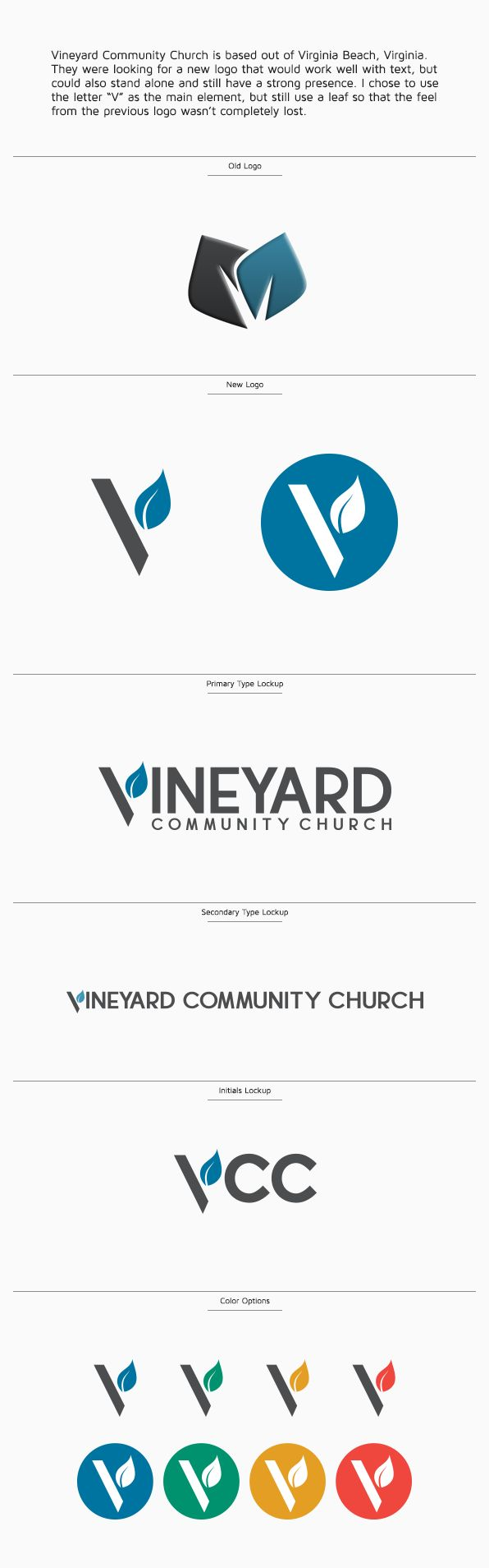 Vineyard Community Church Identity on Behance