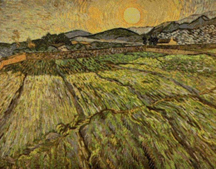 Ван Гог Пейзаж с вспаханным пол, предпросмотр