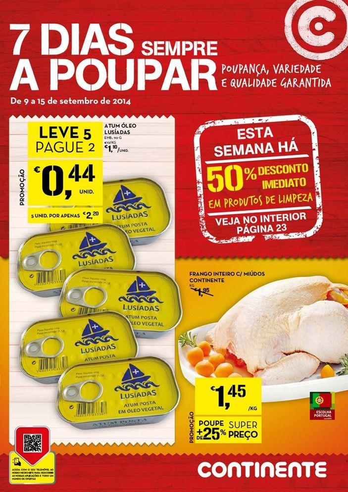 Folheto promoções Continente 09 a 15 Setembro.