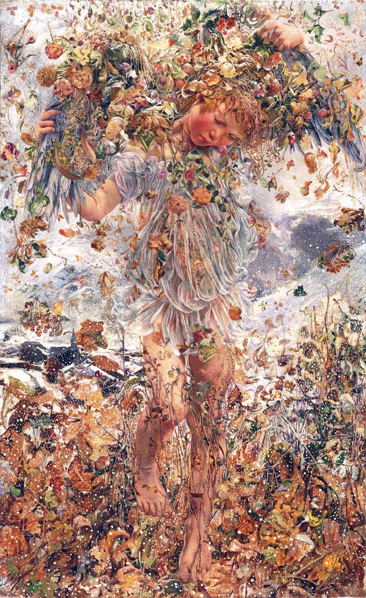 Léon Frédéric (Belgian, 1856-1940). The Four Seasons: Winter, 1894. Philadelphia Museum of Art: