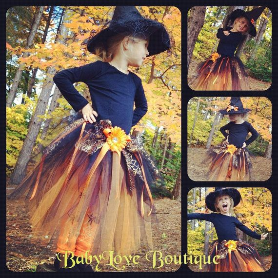 Halloween witch Tutu Costume by BabyLove777Boutique on Etsy, $64.00