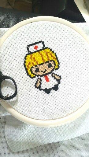 Cross stitch Nurse