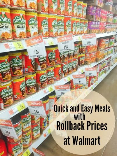 Quick and Easy after school meals with the Chef Boyardee Rollback at Walmart. Less time in the kitchen means more time for other fun activities.#ad #lowpricemeals