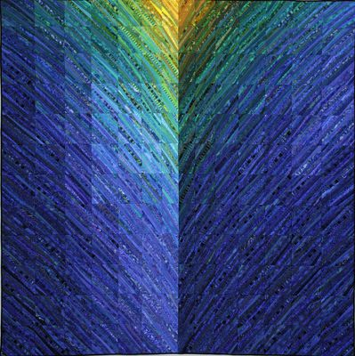 art quilts that use color fabric and the traditions of quilt making to create abstract landscapes custom orders welcome