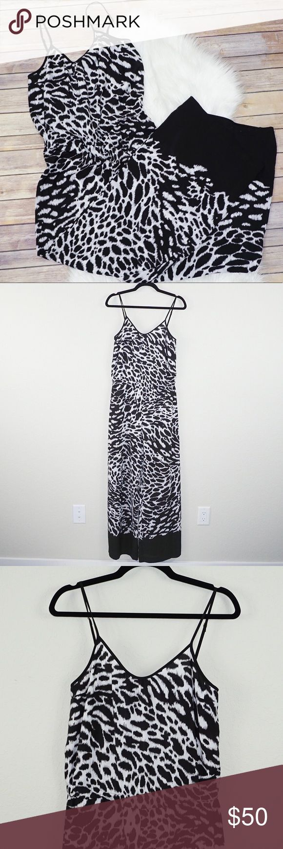 Michael Kors Animal Print Jumpsuit ✨Condition: Excellent, Pre-owned ✨Features: Adjustable straps. 100% Polyester. Style MH43GGCF15D ✨Feel free to make an offer -or- Add to Bundle to receive an exclusive discount! Michael Kors Pants Jumpsuits & Rompers