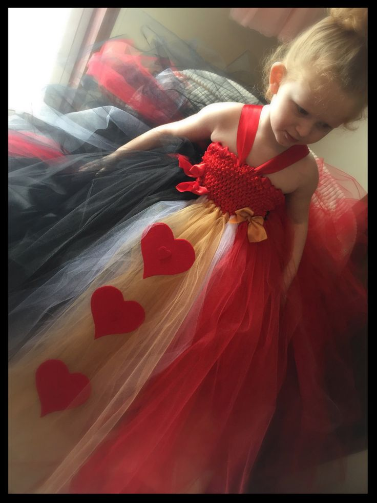 Queen Of Hearts Tutu Dress, Queen of Hearts Dress, Valentine's Tutu Dress, Valentine Dress, Queen of Hearts Costume, Halloween Tutu - pinned by pin4etsy.com
