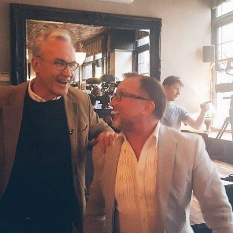 Larry Lamb interviewed us for BBC The One Show, ahead of the film release: The Hatton Garden Job, in April 2017