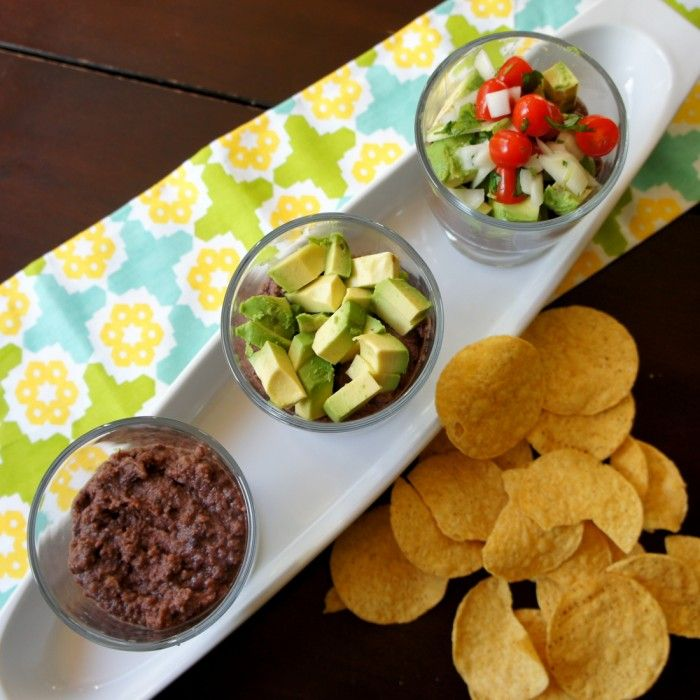 Individual 5 layer Black Bean Dips!
