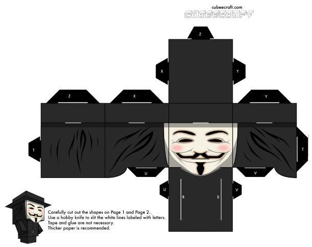 Un masque qui commence à vouloir dire beaucoup de choses… De la Conspiration des poudres, aux Anonymous en passant par le film V for Vandetta, il fait désormais partie de l'inconscient collectif et on le retrouve donc naturellement à laLire la suitePapertoy V de Cubeecraft