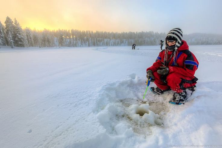 Ice fishing is a unique sport that is great for meditation and communing with nature - Visiting Finland in Winter: Top 15 Winter Activities in Finland
