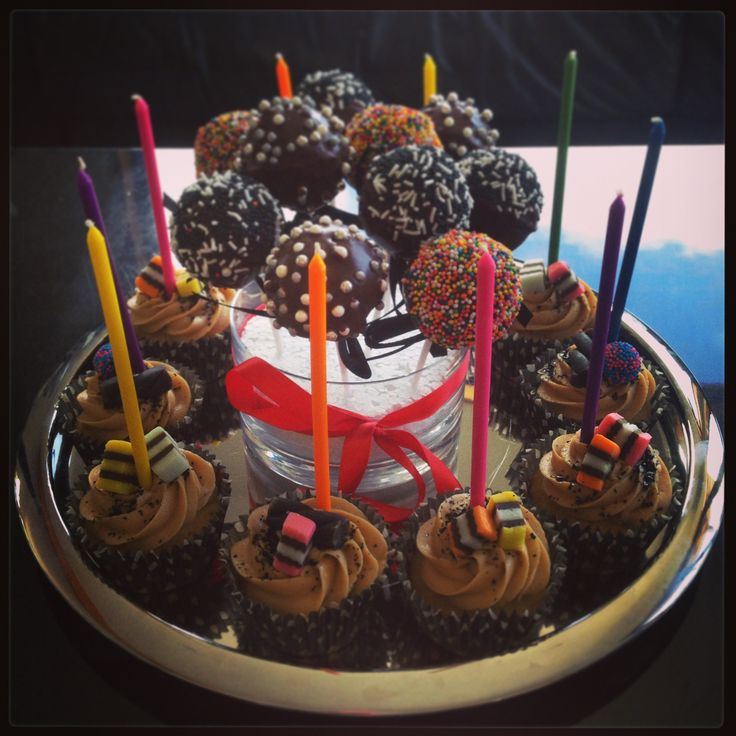 Perfect for anyone obsessed with liquorice allsorts! Birthday cupcakes filled with lollies, colour and fun! And as an added bonus, why not add the cake pops