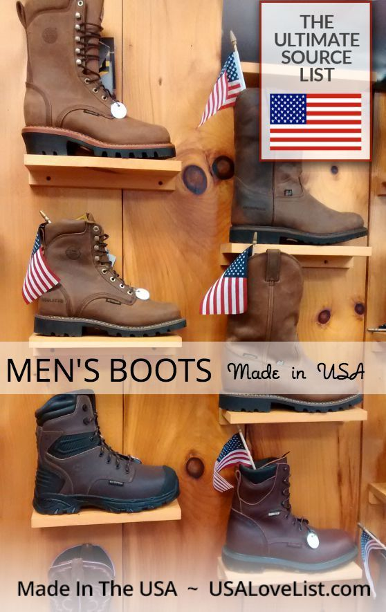 Men's Boots Work boots, hiking boots, fashion boots for men Made in USA #Winteriscoming #AmericanMade #bootsformen