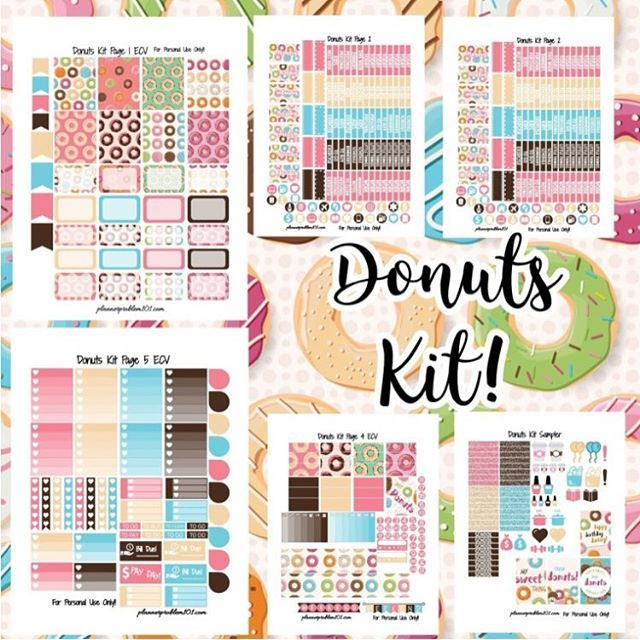 FREE Donuts Kit! | Free Printable Planner Stickers