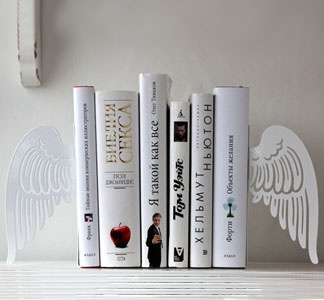 These ethereal looking bookends are some of the most gorgeous I've seen