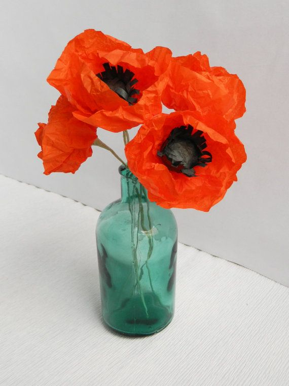 Hey, I found this really awesome Etsy listing at https://www.etsy.com/uk/listing/271990836/five-pieces-of-red-paper-poppies-paper