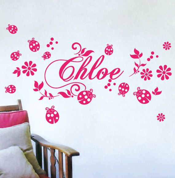 CUSTOM NAME Sticker Wall Vinyl For Girls By Sticktakstickers, $26.95 Part 94