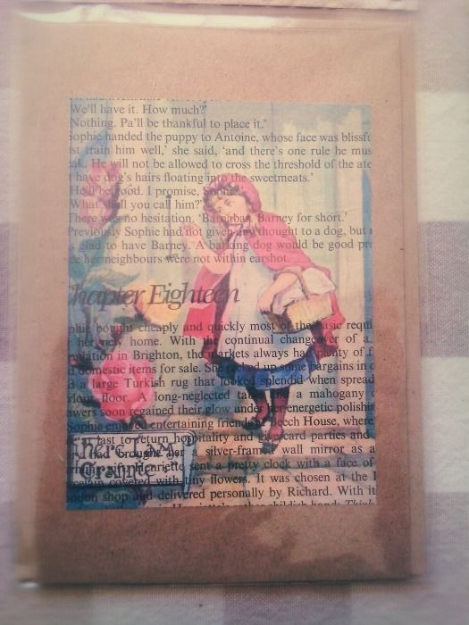 Red Riding Book Print Gift Card