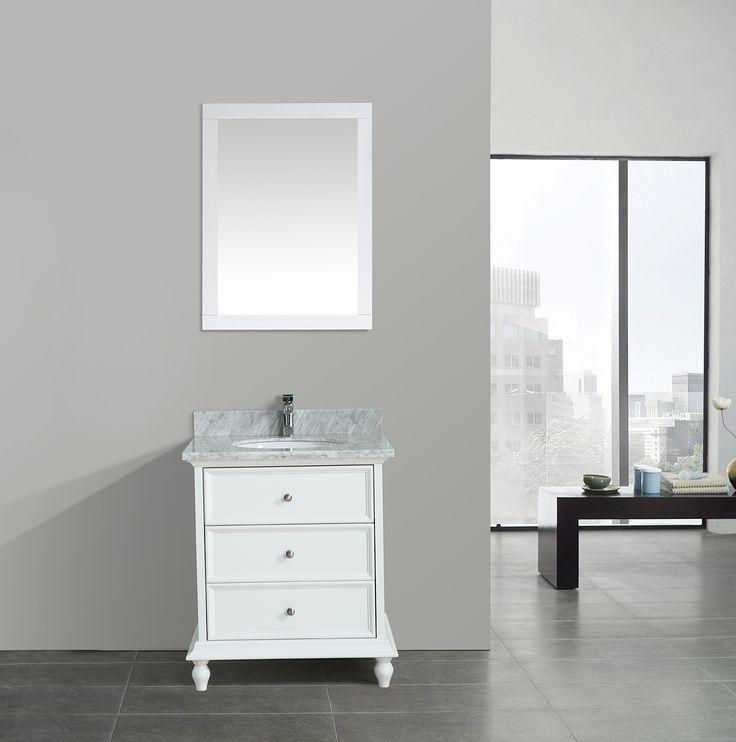 Lynx 30 Inch White Vanity