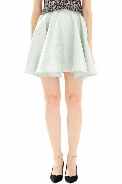 Drop-dead-gorgeous Mint Green Skater Skirt