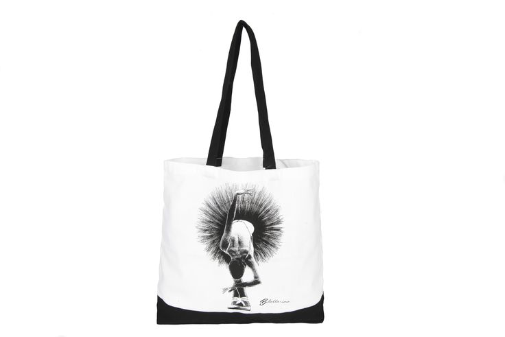 Black &White Shopper Bag, Ballerina in the 5th position.  Size: 38x37cm Soon available on our e-shop!
