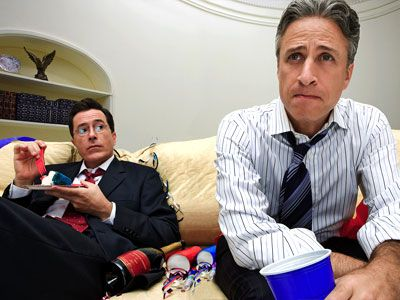 Stephen Colbert and Jon Stewart: Fake News, Stewartcolbert, Colbert Reports, Boys, Awesome Dudes, Newsmen, Colbert Stewart, Brilliant Men, Favorite People