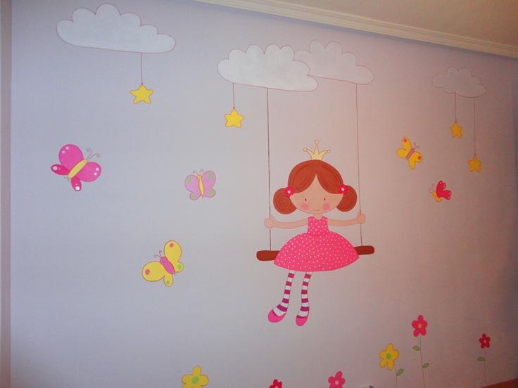 Mejores 126 im genes de murales infantiles en pinterest for Decoracion paredes habitacion bebe nina