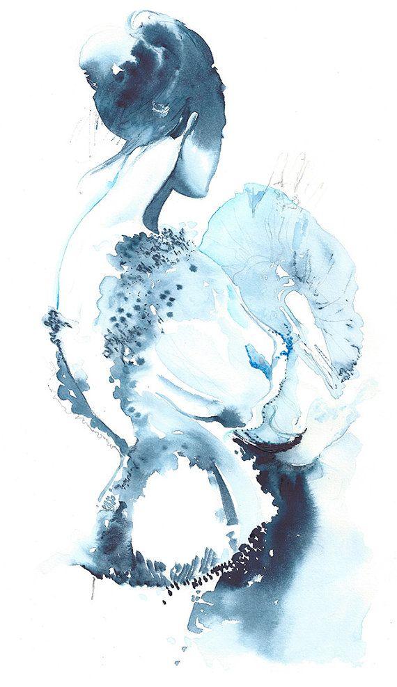 17 x 22 Print from Original Watercolor por silverridgestudio, $250.00
