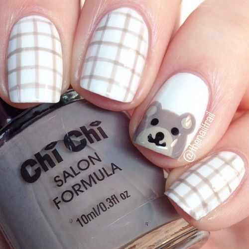 Teddy bear nails! ❤️ for this design I used 'Just Chillaxin' from @chichicosmeticsofficial! http://decoraciondeunas.com.mx #moda, #fashion, #nails, #like, #uñas, #trend, #style, #nice, #chic, #girls, #nailart, #inspiration, #art, #pretty, #cute, uñas decoradas, estilos de uñas, uñas de gel, uñas postizas, #gelish, #barniz, esmalte para uñas, modelos de uñas, uñas decoradas, decoracion de uñas, uñas pintadas, barniz para uñas, manicure, #glitter, gel nails, fashion nails, ...