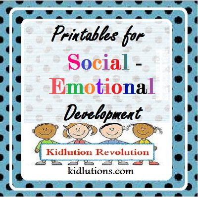Our BEST printables for social-emotional development and guidance! #ece #parenting #preschool