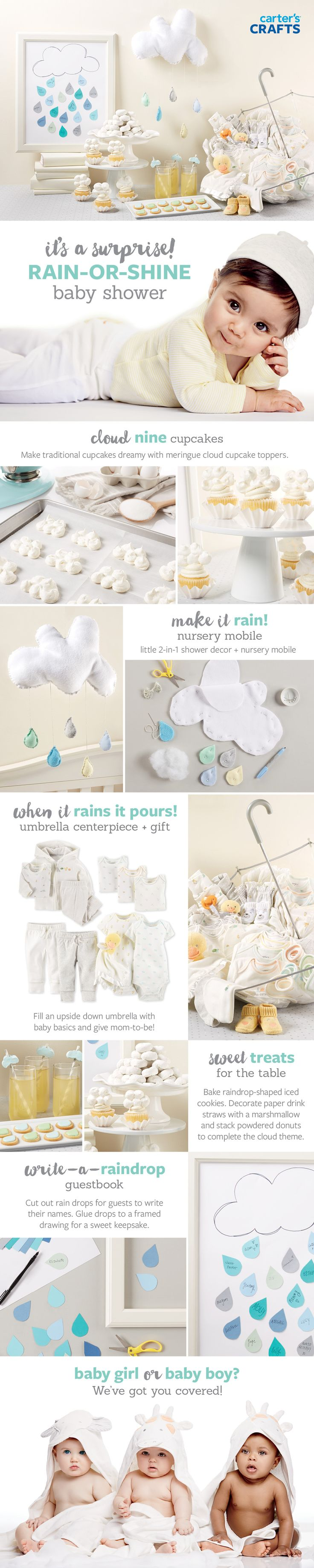 Rain-or-Shine Baby Shower - Gender Neural | Styling: Kristine Cholakian Cooke