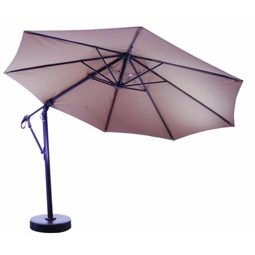 galtech 11 ft aluminum cantilever patio umbrella with easy lift and easy tilt ultimate patio