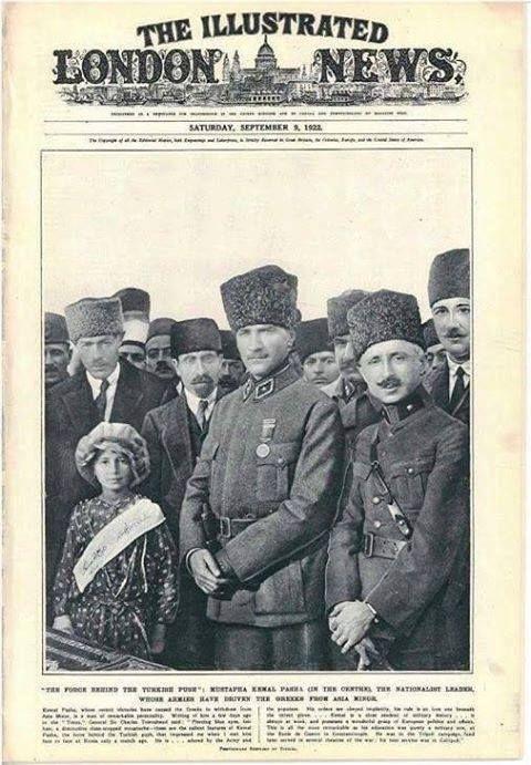 İngiltere'de London News gazetesinde çıkan Atatürk haberi.  Küçük Asya'nın Milliyetçi Lideri.. Eylül 1922.