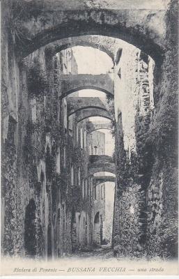 F R Reincke Postcard - Riviera di Ponente - Bussana Vecchia - una strada c1907