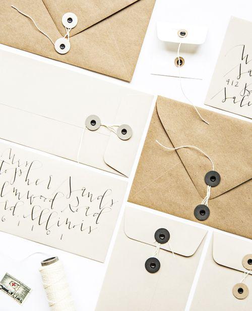 DIY Button and String Envelopes