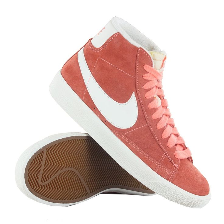 Nike Blazer Mid Premium Orange Suede Womens Trainers: Amazon.co.uk: Shoes