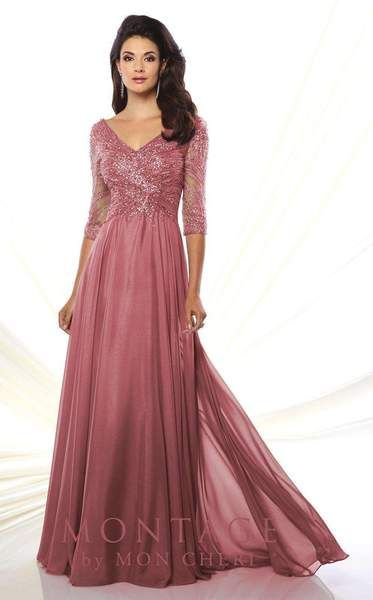 3fa30f2c820 Mon Cheri 116950 Rosewood Evening Gowns With Sleeves