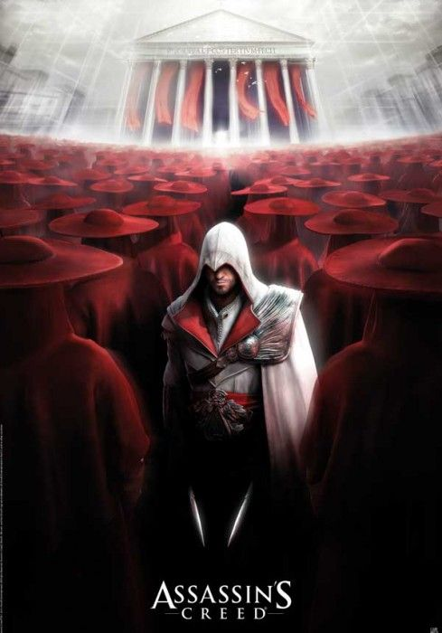 """Poster Assassin's Creed Ezio All I'm thinking about is """"Part the Red Sea. Hopefully those guards have good armor."""""""
