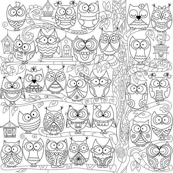 """Раскраска-антистресс """"Дружные совы"""" 60х60см купить недорого в интернет-магазине Podaro4ek: цена, отзывы, фото."""