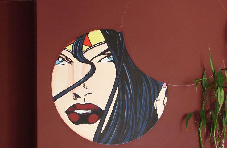 Pop Art-acrílico sobre estuque